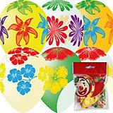 """Воздушные шары Latex Occidental """"Цветущий сад"""" 10 шт., декоратор (шёлк)"""