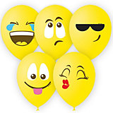 """Воздушные шары Latex Occidental """"Эмоции смайл"""" 25 шт., жёлтый, пастель (шёлк)"""