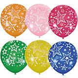 """Воздушные шары Latex Occidental """"Звёзды"""" 25 шт., декоратор (шёлк)"""