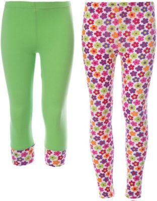 Комплект: бриджи, леггинсы Conte-kids FIORI для девочки - зеленый