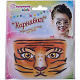 "Стикер для лица Partymania ""Карнавал"", Тигр"
