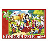 "Мега-пазл Konigspuzzle ""Белоснежка и семь гномов"" 24 элемента"