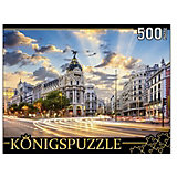 """Пазл Konigspuzzle """"Мадрид. Отель Гран Виа"""" 500 элементов"""