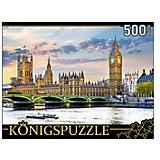 "Пазл Konigspuzzle ""Лондон. Вестминстерский дворец и Биг-Бен"" 500 элементов"
