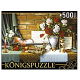 """Пазл Konigspuzzle """"Цветочный натюрморт со скрипкой"""" 500 элементов"""