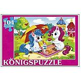 """Пазл Konigspuzzle """"Пони на отдыхе"""" 104 элемента"""