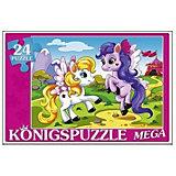"""Мега-пазл Konigspuzzle """"Пони на прогулке"""" 24 элемента"""