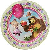 """Набор Rosman из 6 тарелок """"Ягодное лето. Маша и Медведь"""", диаметр 18 см"""