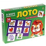 """Настольная игра Рыжий кот """"Лото"""" В мире животных"""