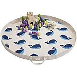 Игровой коврик-сумка 3 Sprouts Синий кит (Blue Whale SPR1303). Арт. 00049