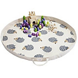 Игровой коврик-сумка 3 Sprouts Серый ёжик (Gray Hedgehog SPR1302). Арт. 00050