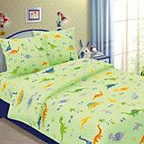 Детское постельное белье 1,5 сп. Letto, Динно,зеленый