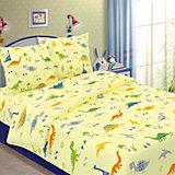 Детское постельное белье 1,5 сп. Letto, Динно, желтый