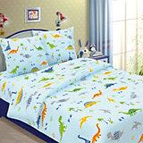 Детское постельное белье 1,5 сп. Letto, Динно, голубой