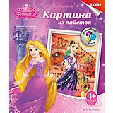 """Картина из пайеток """"Волшебный блеск"""" Disney Princess Рапунцель"""
