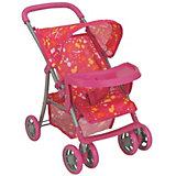 Коляска - трансформер Buggy Boom , розовый с разноцветными пятнами