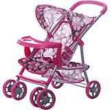Коляска - трансформер Buggy Boom , розово-бежевый с цветами