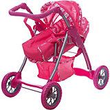 Коляска - трансформер Buggy Boom , розовый в полосочку