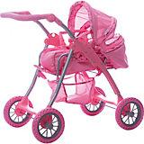 Коляска - трансформер Buggy Boom , светло-розовый с сердечками
