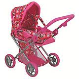 Коляска - трансформер Buggy Boom , розовый с цветочным рисунком