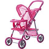Коляска для кукол Buggy Boom , розовый в разноцветный горошек