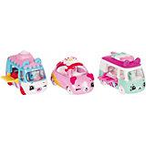 "Игровой набор Moose ""Cutie Car"" Три машинки с мини-фигурками Shopkins, Freezy Raiders"