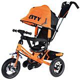 Трехколесный велосипед City пластиковые колеса 8/10, оранжевый