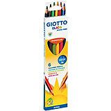 Цветные карандаши GIOTTO пластиковые, 6 штук