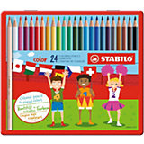Набор цветных карандашей Stabilo, 24 цвета, в металлическом футляре