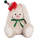 Мягкая игрушка Budi Basa Зайка Ми в колпачке с зеленым бантиком, 18 см