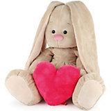 Мягкая игрушка Budi Basa Зайка Ми с сердцем, 34 см