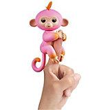 Интерактивная обезьянка Fingerlings Саммер, 12 см  (розовая с оранжевым) WowWee