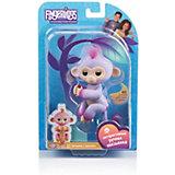 Интерактивная обезьянка Fingerlings Сидней, 12 см (розовая) WowWee
