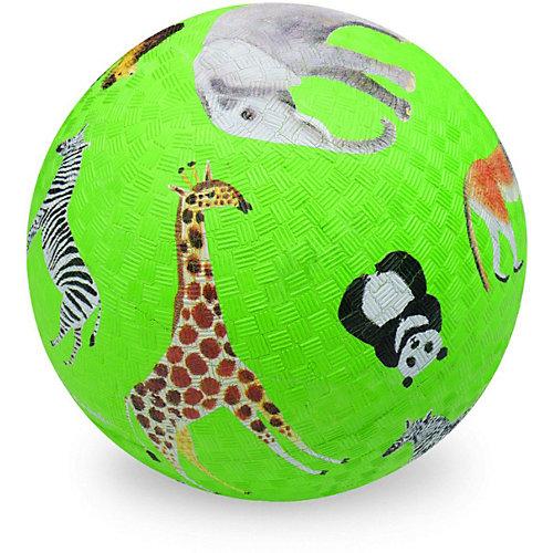 """Мяч Crocodile Creek """"Дикие животные"""" зелёный, 13 см от Crocodile Creek"""