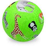 """Мяч Crocodile Creek """"Дикие животные"""" зелёный, 13 см"""