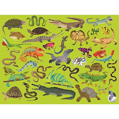 """Пазл Crocodile Creek """"36 животных"""" Рептилиии и земноводные, 300 элементов от Crocodile Creek"""