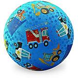 "Мяч Crocodile Creek ""Машинки"" синий, 18 см"