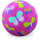 "Мяч Crocodile Creek ""Бабочки"" розовый, 18 см"