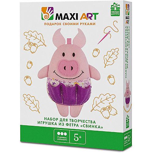 """Набор для творчества Maxi Art """"Игрушка из фетра"""" Свинка, 17 см. от Maxi Art"""