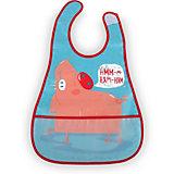 Нагрудный фартук на липучке Happy Baby pig, голубой