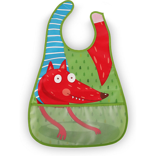 Нагрудный фартук на липучке Happy Baby fox, зелёный - зеленый от Happy Baby