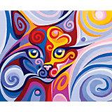 """Алмазная мозаика Color KIT """"Сказочная кошка"""", 17х21 см"""