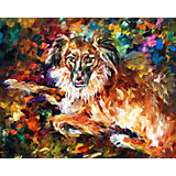 """Алмазная картина-раскраска Color KIT """"Породистый пёс"""", 40х50 см"""