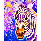 "Алмазная мозаика Color KIT ""Фиолетовая зебра"", 17х21 см"