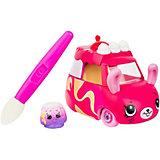 """Машинка меняющая цвет Moose """"Cutie Car"""" Мраморный мотор, с кисточкой"""