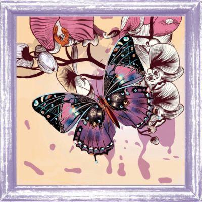 """Набор для вышивания бисером Color KIT """"Бабочка"""", 30х30 см"""