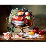 """Алмазная картина-раскраска Color KIT """"Фруктовый натюрморт"""", 40х50 см"""