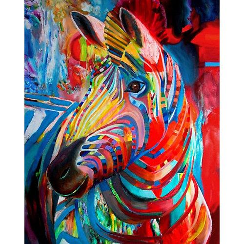 """Алмазная картина-раскраска Color KIT """"Радужная зебра"""", 40х50 см от Color KIT"""