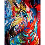 """Алмазная картина-раскраска Color KIT """"Радужная зебра"""", 40х50 см"""