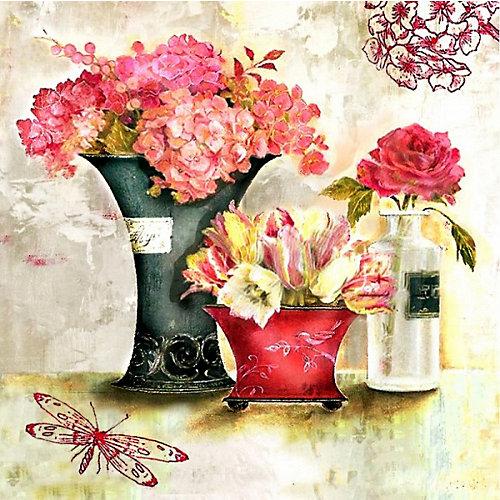 """Алмазная картина-раскраска Color KIT """"Розовый аромат"""", 40х40 см от Color KIT"""